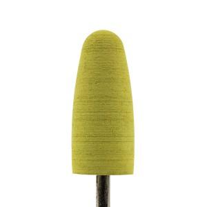 Полировщик силиконовый Закругленный, зернистость Мелкая (желтый, крупный)